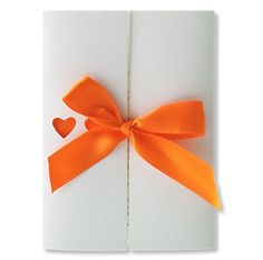 Orange wedding invitation