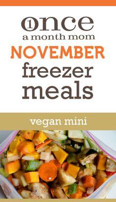 Vegan Mini November 2012 Menu