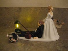 cake toppers fishing bride and groom ...I think this would be perfect!