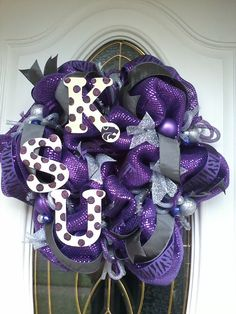 Kansas State Wildcats Deco Mesh Wreath
