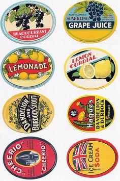 Old bottle labels