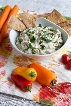 Mediterranean Eggplant Dip #lowcarb #glutenfree #healthy #easter #appetizer sugarfreemom.com