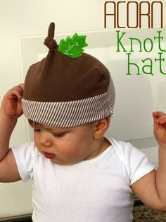 For a baby who may not be ready for a full-fledged Halloween costume, craft this adorable acorn hat, which will also keep your little one warm during the cool October night.