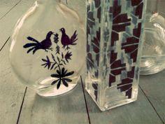 Transfer prints onto glass. #tutorial