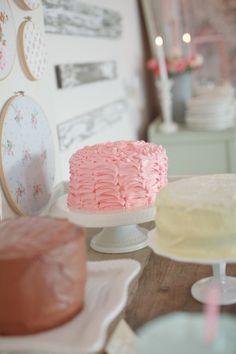 shabby chic pink cake