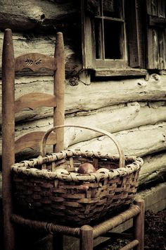 old woven basket