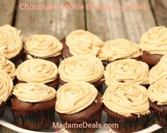 Chocolate Cookie Butter Cupcakes http://madamedeals.com/kid-cupcake-recipes-chocolate-cookie-butter-cupcakes/ #inspireothers #cupcakes #recipes