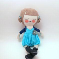sew, muñeco, penelop, rag dolls, cloth doll, blues, doll rag