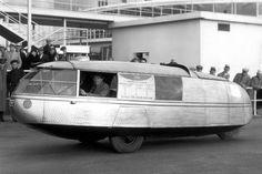Dymaxion car - 1930 Buckminster Fuller - got 30 mpg on the road in 1933!