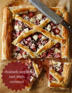 Rhubarb Tart with Orange Glaze | Recipe