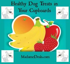 Healthy Dog Treats in Your Cupboard http://madamedeals.com/healthy-dog-treats-in-your-cupboard/ #dogfood #inspireothers