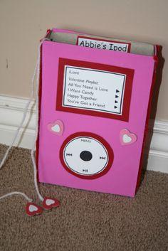 valentine box, box idea, craft, ipods, valentine day, valentin box, cereal box, ipod valentin, card boxes