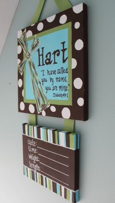Personalized Hospital Door Hanger for New Baby by bngibson on Etsy, $38.00