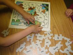 Sight word puzzle.