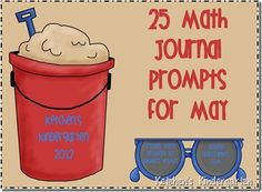 Freebie - May Math Journal Prompts - for K/1