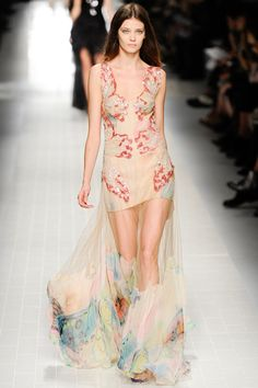 Butterflies everywhere. Blumarine Spring 2014 Ready-to-Wear Collection Slideshow on Style.com Spring fashion trends 2014 #fashion #designer #runway