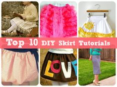 "Top 10 DIY Skirt Tutorials - I love skirt tutorials, even though I'm not really the ""pattern"" type. Ha. diy ideas, 10 diy, skirt tutori, craft, patterns, top 10, diy gifts, pencil skirts, diy skirt"