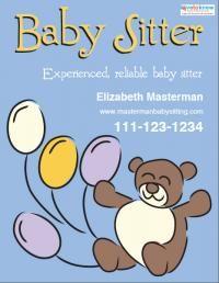 babysitting posters ideas