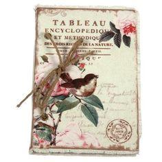 Vintage Primavera Notebook with Bird on Branch, $18 !!
