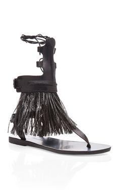 Shop Low Rise Gladiator Sandal by Ancient Greek Sandals - Moda Operandi