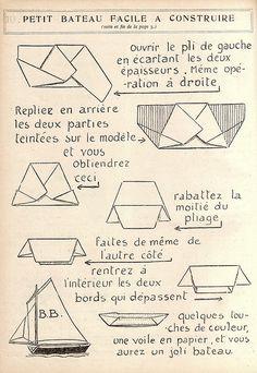 petit bateau en papier : mode d'emploi.