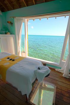 Massage table over the water