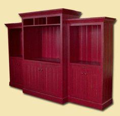 Custom Reclaimed Barnwood Bookcases