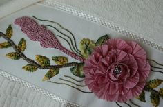 Ribbon Embroidered Turkish Towel by rengarenk on Etsy, $17.00