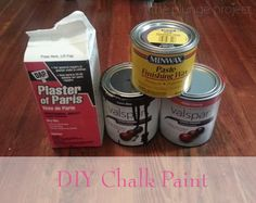 DIY Chalk Paint -- Like Annie Sloan Chalk Paint only WAY cheaper!