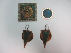 I like the idea of making scrolls and soldering them to copper sheets for pendants and links Make Earrings with Lillypilly Copper Sheets