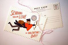 Valentines postcard Rifle paper co