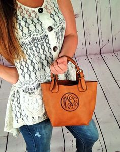 Monogram Crossbody Purse/ tote handbag / monogram by IFlewTheNest $34.99