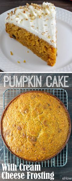"Such a flavorful, richly spiced, moist pumpkin cake with an easy, delicious cream cheese frosting! This is a must all fall long. Honestly, we just want pumpkin puree in everything. Grab the recipe for this cake here: <a href=""http://www.ehow.com/how_12342925_make-thanksgiving-pumpkin-cake-cream-cheese-frosting-recipe.html?utm_source=pinterest.com&utm_medium=referral&utm_content=freestyle&utm_campaign=fanpage"" rel=""nofollow"" target=""_blank"">www.ehow.com/...</a>"