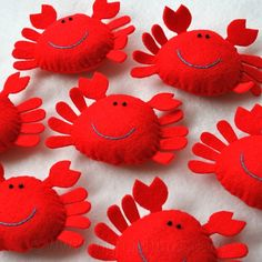 crabs made from felt