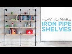 DIY: iron pipe shelves