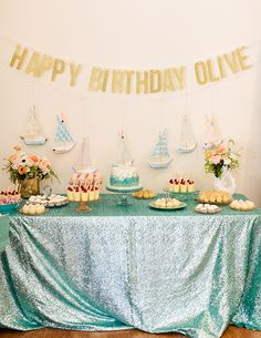 Una preciosa fiesta mar para un primer cumpleaños / A lovely sea party for a first birthday
