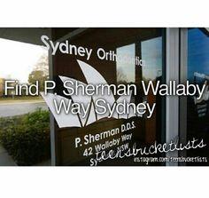 Bucket list, find p.sherman wallaby way.