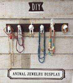 DIY: Animal Jewelry Display.