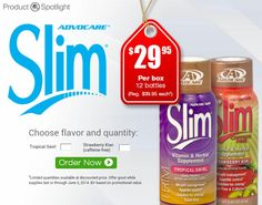 #AdvoCare SLIM doesn't get talked about enough! It's great for energy,  weight management, and appetite control! Now it's in the SPOTLIGHT! See more details at https://www.advocare.com/01042679/office/incentives/spotlight/Slim/default.aspx