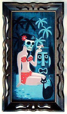 El Gato Gomez Painting Retro Tiki Bar Mask Idol Hawaii