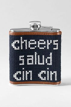 Men's Needlepoint Flask from Lands' End