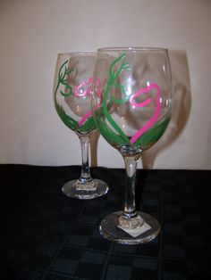 Buck & Doe Wine Glasses Camo Style by howsheseesitecwood on Etsy, $19.95