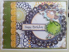 Handmade Original Happy Birthday Greeting Card 5x7 by CroppinSpree, $7.00