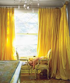 Instant expert on curtains! How long they should be, where to hang them, etc.