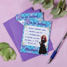 Brave Party Invitations - free printable