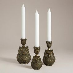 Owl Metal Candleholder Collection
