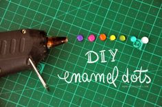 diy crafts, glue gun, enamel dots diy, craft rooms