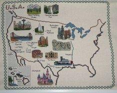 USA-Karte Ziwschenstand
