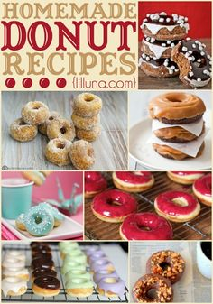 TOP 25 Homemade Donut Recipes - so many recipes, so little time!! Can't wait to try them all! YUM! { lilluna.com }