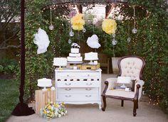 Romantic yellow wedding.